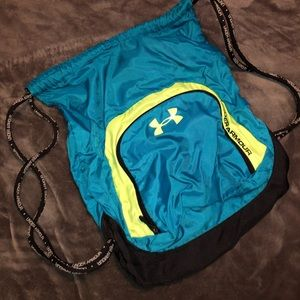 Under Armour Backpack Turquoise and Neon Yellow